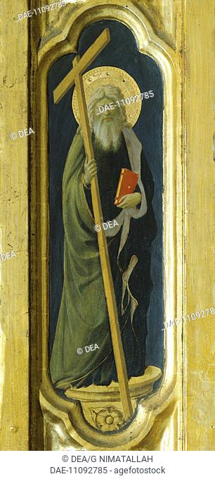 Lateral pillar with the figure of a saint, detail from The Deposition from the Cross or the Altarpiece of the Holy Trinity, ca 1432