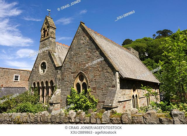 Church of St John the Baptist at Lynmouth on the North Devon coast in Exmoor National park, England