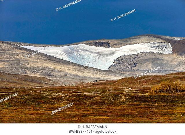 glacier in Saltfjell, Norway, Nordland, Saltfjell