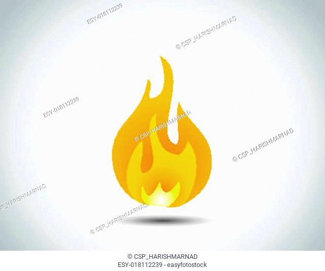 realistic multicolor fire icon