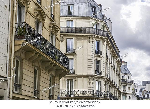 Buffault Street, Paris. France