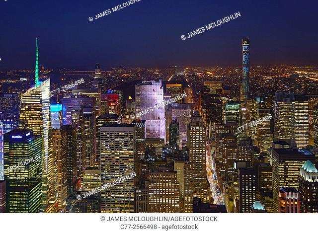 New York City, Manhattan, Skyline, Uptown