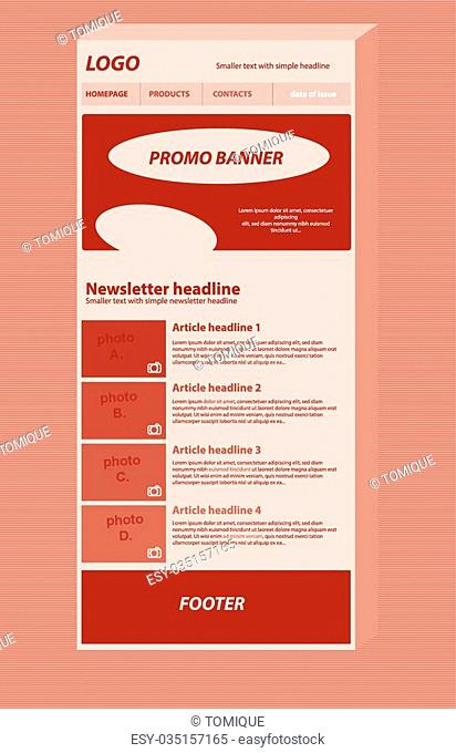 responsive newsletter layout template for business or non-profit organization