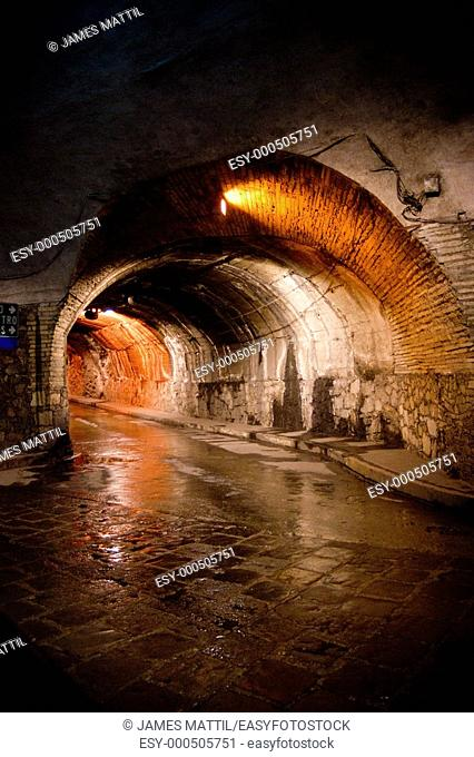 Former silver mines today form a fantastic labyrinth of subterranean traffic tunnels beneath downtown Guanajuato, Mexico