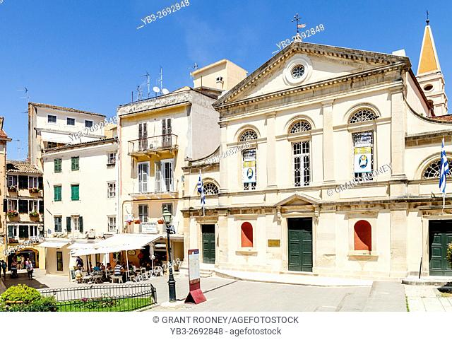 Cathedral Of St Jacob and St Christopher, Town Hall Square, Corfu Old Town, Corfu Island, Greece
