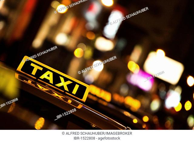 Taxi in the centre of Vienna, Austria, Europe