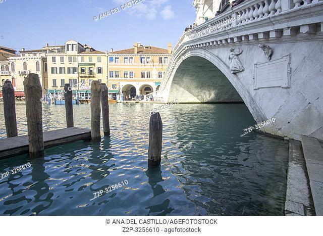 Venice, Veneto, Italy: Rialto bridge