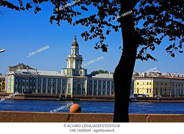 Peter«s the Great«s Kunstkammer Museum of Anthropology and Etnography of the World and Neva River  St  Petersburg  Russia