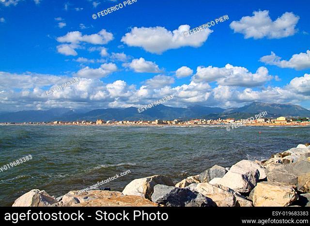 Coast of the Versilia. Viareggio Tuscany