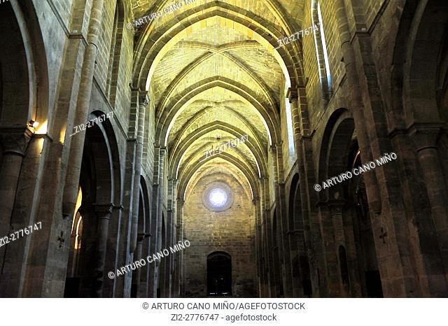The Cistercian Veruela Abbey, XIIth century. The church. Saragossa province, Spain