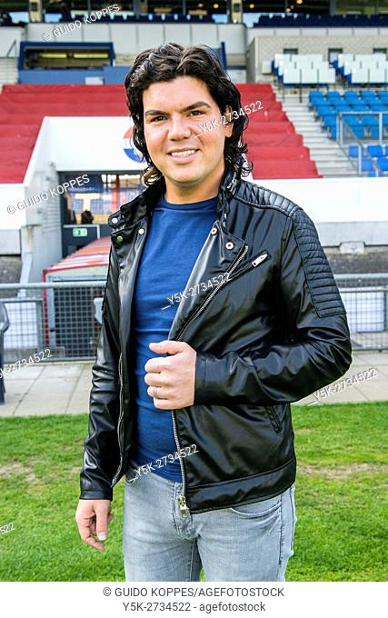 Tilburg, Netherlands. Portrait of folk celebrity, singer and stylist Roy Donders