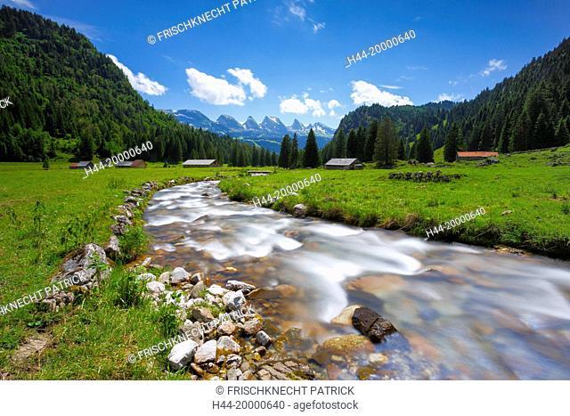 Churfirsten mountains in Toggenburg, Switzerland