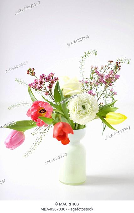 Spring bouquet with tulips