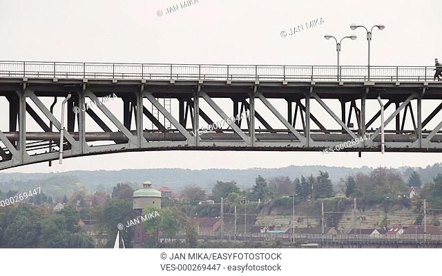 Detail of a bridge and landscape at Roudnice nad Labem in the Czech Republic