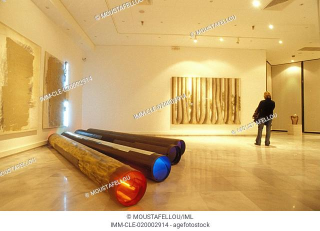 Macedonian Museum of Contemporary Art, interior, sculptures and paintings , Greece: Macedonia Central: Thessaloniki