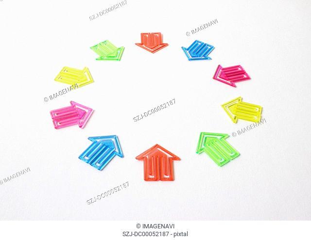 Colorful arrow clips