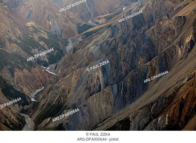 View Of Rocky Mountain Landscape In Kluane, Canada