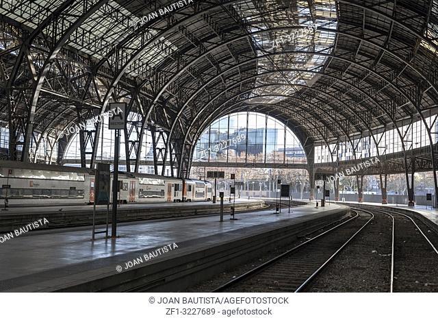 Interior train station,estacio francia,Barcelona