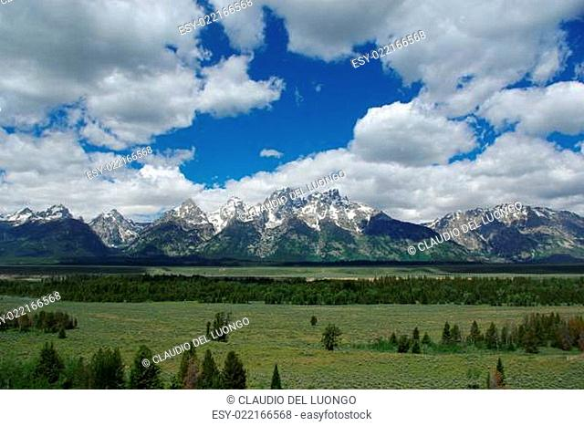 Grand Teton Mountain Range, Wyoming