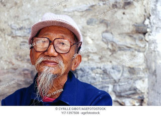 Elderly Chinese man, Dali, Yunnan, China