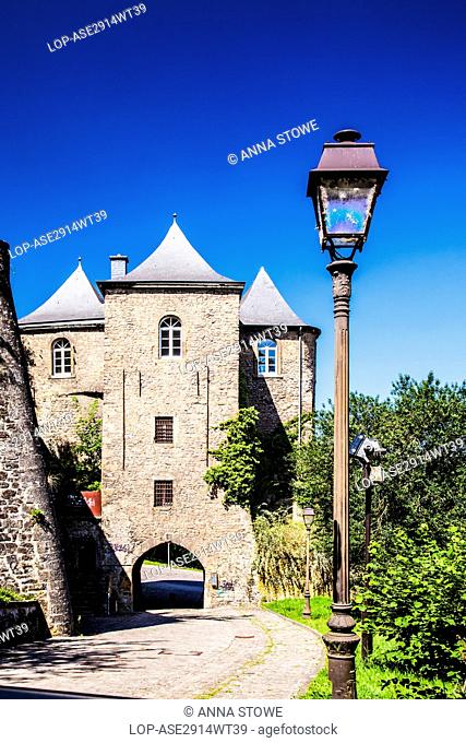 Grand Duchy of Luxembourg, Luxembourg, Luxembourg. The Three Towers of an old fortress that marked the outer boundary of the medieval city of Luxembourg