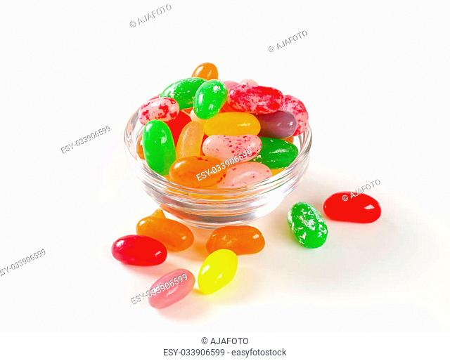 Assorted fruit flavored jelly beans