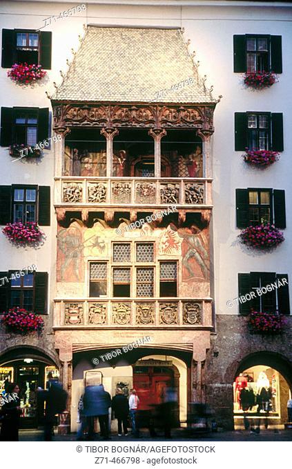 Little golden roof. Innsbruck. Tyrol. Austria