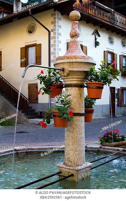 Old fountain, Siror, Italy