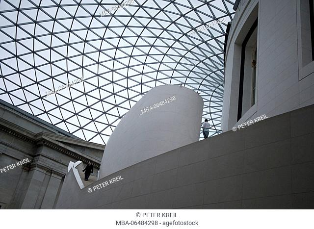 Dome of the British museum, London, England, Great Britain