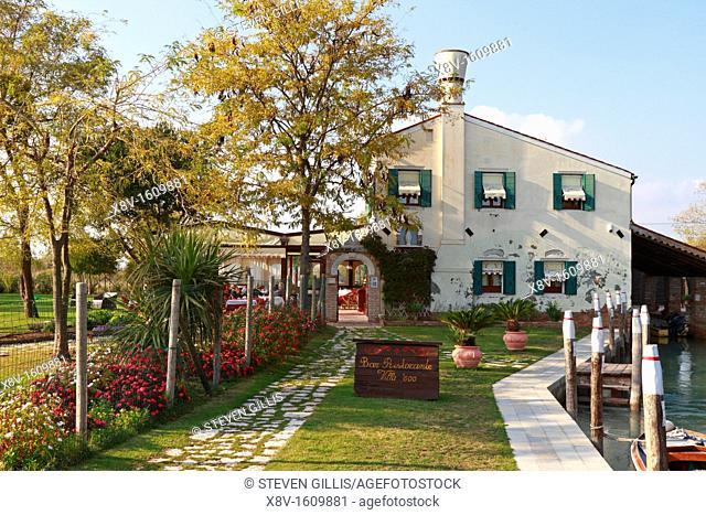 Villa 600 restaurant, Torcello, Venice, Veneto, Italy, Europe