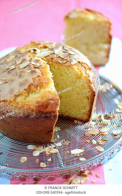 Almond genoise cake