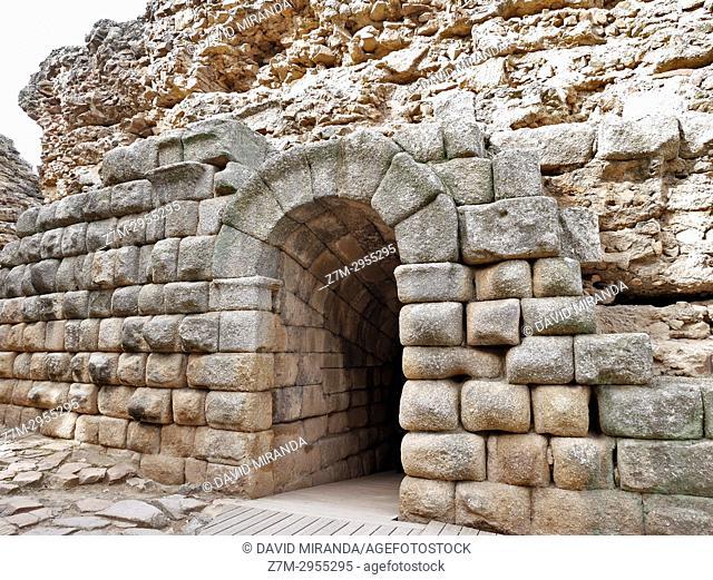 Access gate to the Roman Theatre. Mérida. Badajoz. Extremadura. Spain