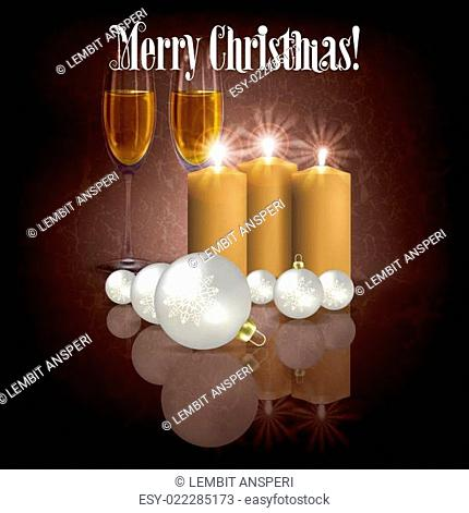 Abstract background with candles and decorations