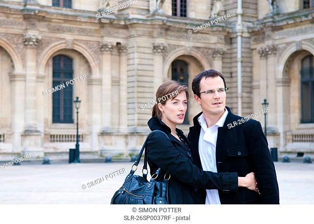 Couple at the Louvre Paris