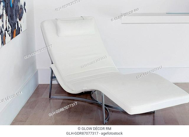 Reclining chair in a room