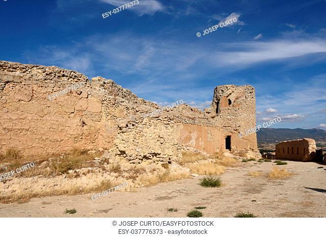 Castle of Ayab in Calatayud, Zaragoza province, Aragon, Spain