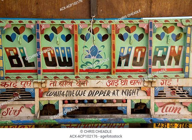 Typical vehicle sign, Jaipur, Rajastan, India