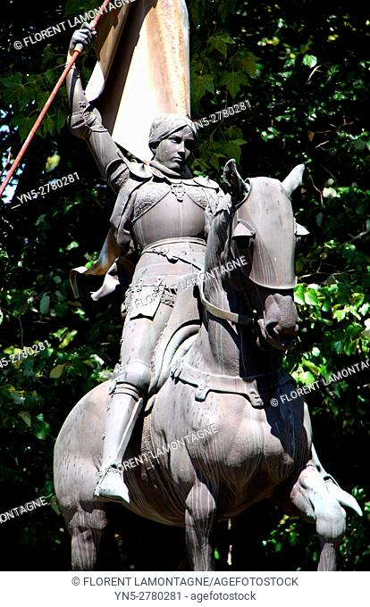 Portrait of Joan of Arc - Jeanne d'Arc (1412-1431) in Castres (Tarn)