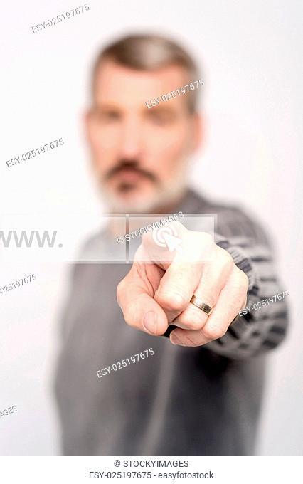 www. written in search bar on virtual screen