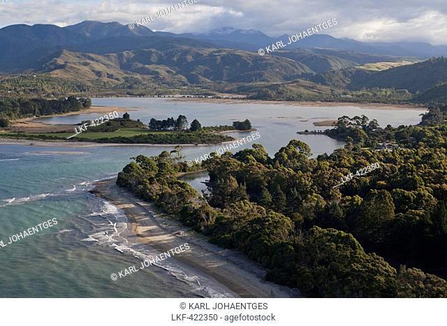 Aerial, Golden Bay, Parapara Inlet, Tasman District, South Island, New Zealand