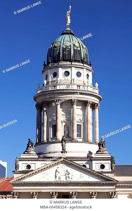 French cathedral at the Gendarmenmarkt (square), the Mitte district of Berlin, Germany