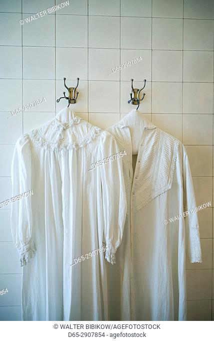 USA, New York, Finger Lakes Region, Rochester, George Eastman House, former home of photography pioneer George Eastman, nightshirts