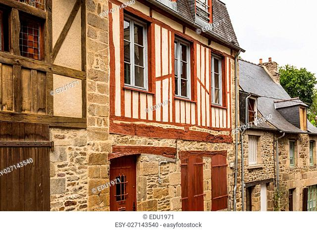 View the town of Dinan, Brittany, France