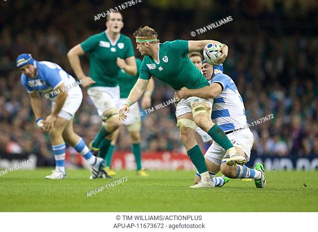 2015 Rugby World Cup Quarter Final Ireland v Argentina Oct 18th. 18.10.2015. Millennium Stadium, Cardiff, Wales. Rugby World Cup Quarter Final