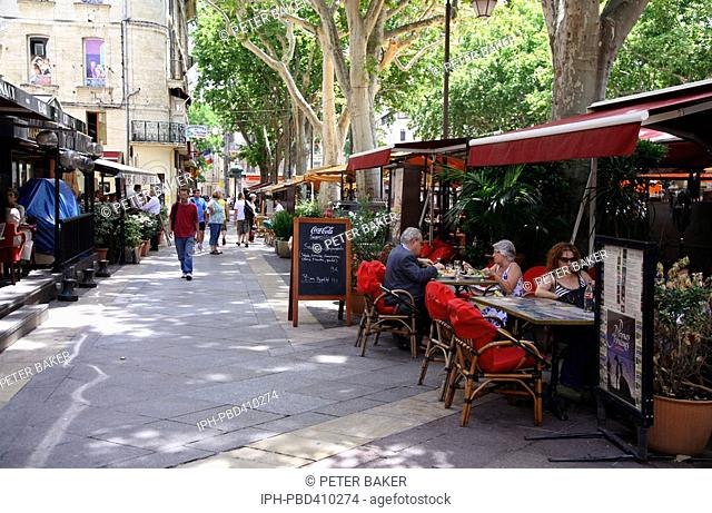 Avignon - There are a good choice of restuarants in Place de L'Horloge