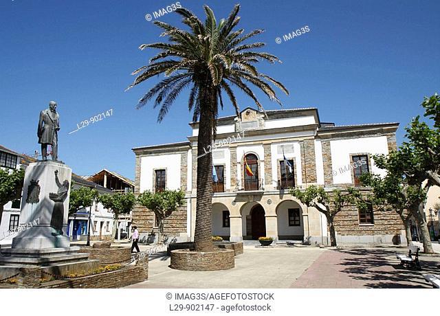 Tapia de Casariedo City Hall, built in 1863 by Juan María Yáñez Caballero. Asturias, Spain