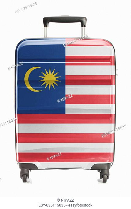 Suitcase painted into national flag series - Malaysia