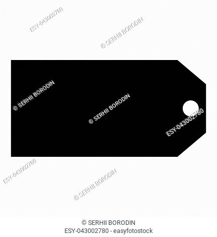 Label sale and discount icon icon black color vector illustration isolated