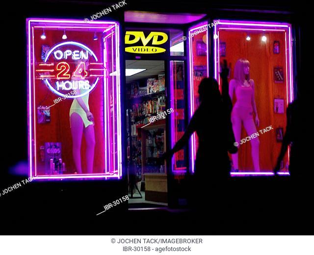 USA, United States of America, New York City: Soho, erotic shop