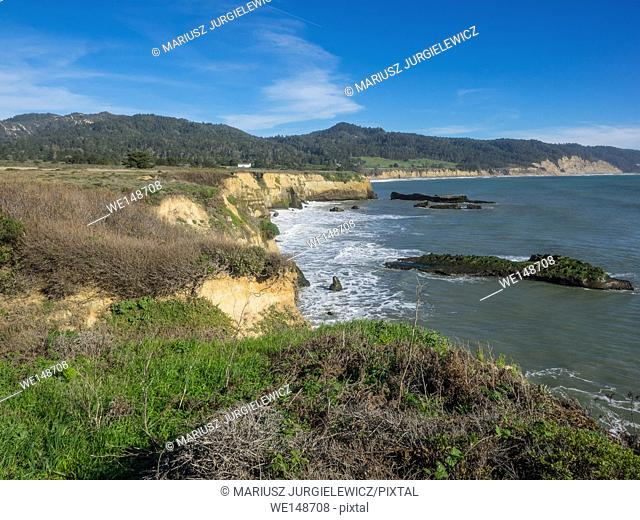 Ano Nuevo State Park is a state park of California, USA, encompassing Ano Nuevo Island and Ano Nuevo Point, which are known for their pinniped rookeries
